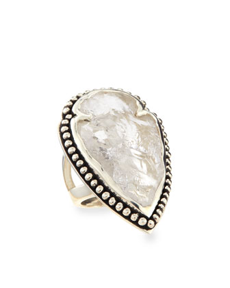 Arrowhead Ring with Clear Quartz