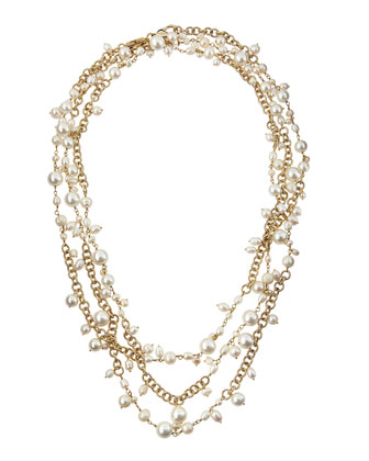 Chimera Extra-Long Multi-Strand Pearl Necklace