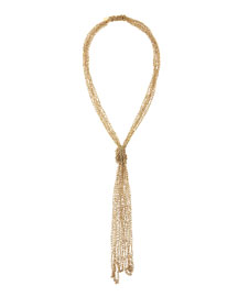 Penelope Five-Strand Crochet Tassel Necklace