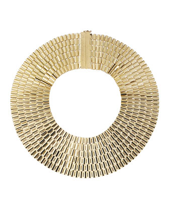 Cleopatra 24K Gold Dipped Collar Necklace
