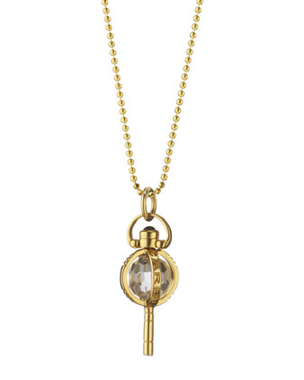 Mini Carpe Diem Sapphire Key Necklace