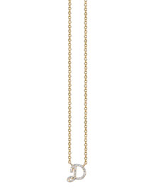 Pav?? Diamond D Initial Pendant Necklace