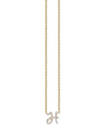 Pav?? Diamond H Initial Pendant Necklace