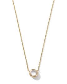 18K Gold Clear Quartz Mini Lollipop Necklace