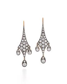 Old European-Cut Diamond Chandelier Earrings