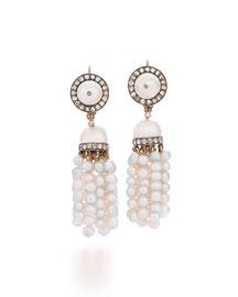 19th Century Pearl & Diamond Tassel Earrings