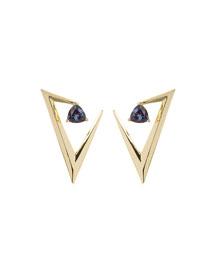 18k Gold Alexandrite V Earrings