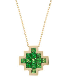 Tsavorite V Pendant Necklace
