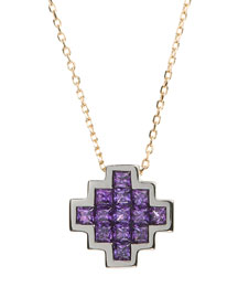 Amethyst V Pendant Necklace