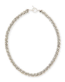 Irina Faceted Sterling Silver Bead Necklace