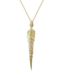 Magnipheasant 18K Gold Pav� Diamond Pendant Necklace