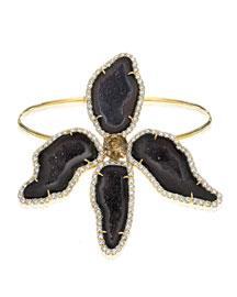 Dark Geode & Pav?? Diamond Orchide Bracelet