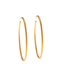 Jane 24K Gold Hoop Earrings