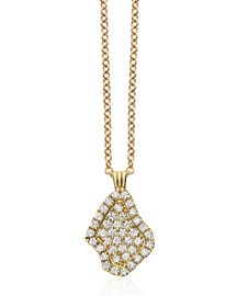 Pav?? Diamond Geode-Shaped Pendant Necklace