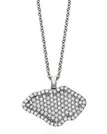 18K White-Gold Pav?? Diamond Pendant Necklace