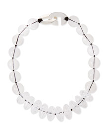 Clear Rock Crystal Bead Necklace