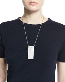 Metallic Dog Tag Necklace