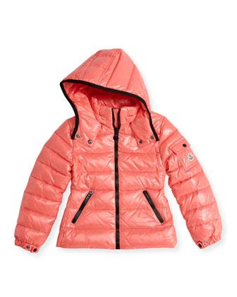 Bady Shiny Puffer Jacket, Coral, Sizes 2-12