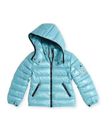 Bady Shiny Puffer Jacket, Turquoise, Sizes 2-12