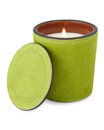 Calf Hair Votive, Lime Green