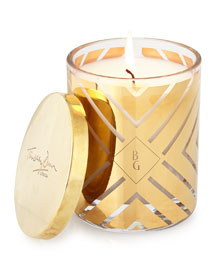 Scented Chevron-Design Candle, Gold