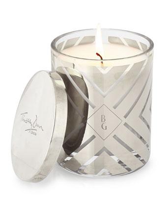 Scented Chevron-Design Candle, Platinum