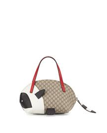 Girls' GG Panda Tote Bag, Beige