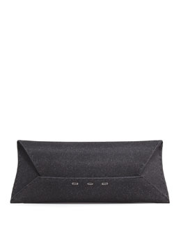 VBH Manila Stretch Sparkle Clutch Bag, Black