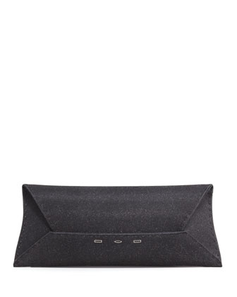 Manila Stretch Sparkle Clutch Bag, Black