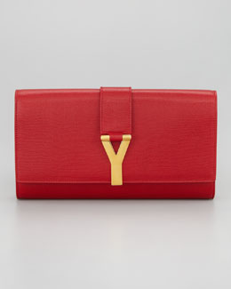 Saint Laurent Y Ligne Clutch Bag, Pink