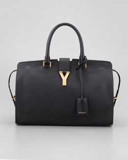 Saint Laurent New Cabas Chyc Medium Tote Bag, Black