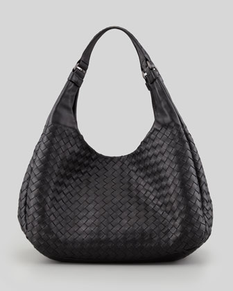 Woven Compania Medium Bag, Black