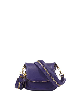 Jennifer Micro Flap-Top Messenger Bag, Violet