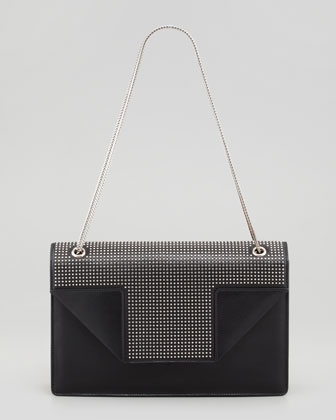 Betty Mini-Stud Chain Shoulder Bag, Black