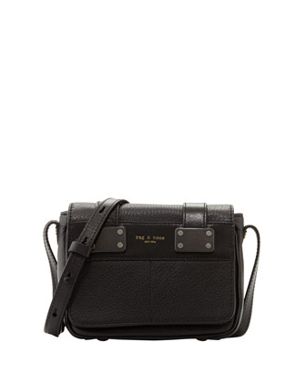 Mini Pilot Crossbody Bag, Black