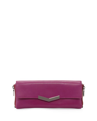 Meridian Zip-Side Flap Clutch Bag