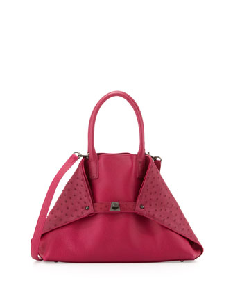 Ai Small Ostrich Tote Bag, Pink