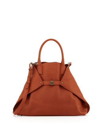 Ai Cervo Medium Top Handle Bag, Brown