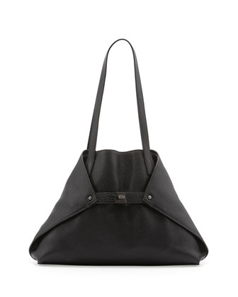 Ai Cervo Small Shoulder Tote Bag, Black