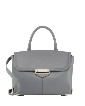 Marion Large Satchel Bag, Gray