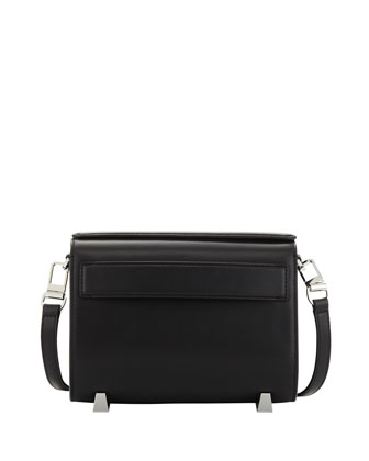 Chastity Mini Leather Clutch Bag, Black