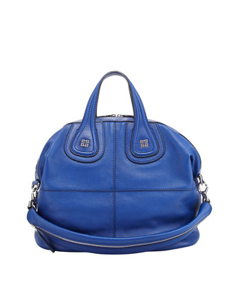 Nightingale Sugar Medium Satchel Bag, Royal