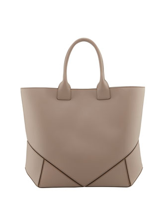 Napa Stitched Easy Tote Bag, Beige
