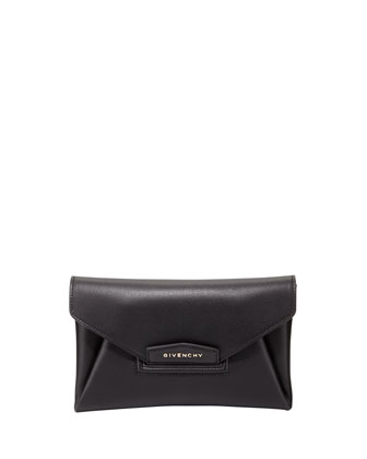 Antigona Small Sugar Envelope Clutch Bag, Black