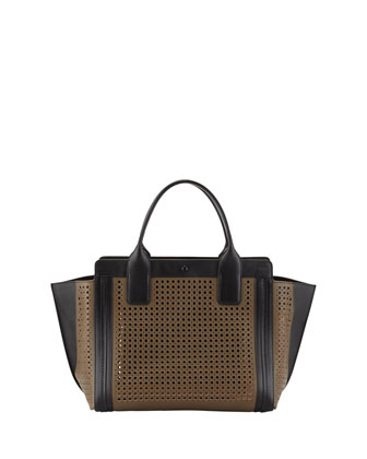 Alison Small Perforated Tote Bag