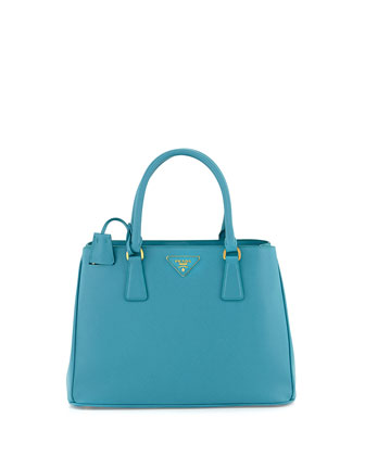 Saffiano Lady Tote Bag, Aqua