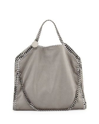 Falabella Fold-Over Shopper Bag, Gray