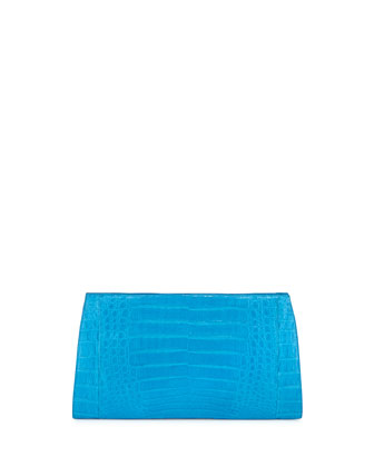 Razor Crocodile Clutch Bag, Ocean