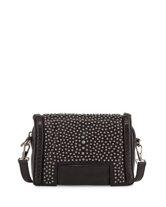 Otis Small Studded Pouch Bag, Black