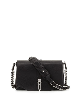 Enfield Mini Chain Crossbody Bag, Black